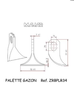 Palette gazon ZRBPLR34